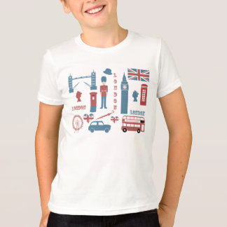 London Icons Retro Love kids white t-shirt
