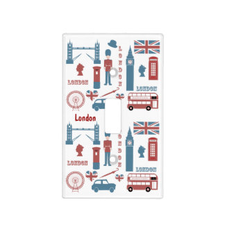 London Icons Retro Love light switch cover