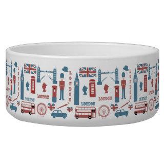 London Icons Retro Love Pet Bowl