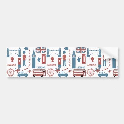 London Icons Retro Love Souvenir bumper sticker
