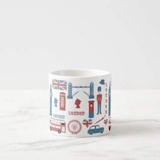 London Icons Retro Love Souvenir espresso mug 6 Oz Ceramic Espresso Cup