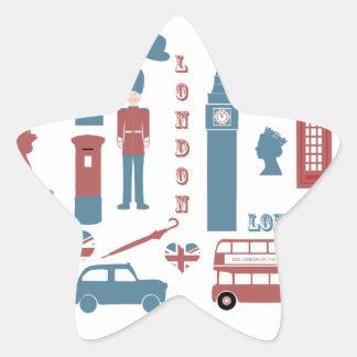 London Icons Retro Love Souvenir star stickers
