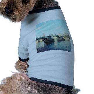 London in blue doggie t-shirt