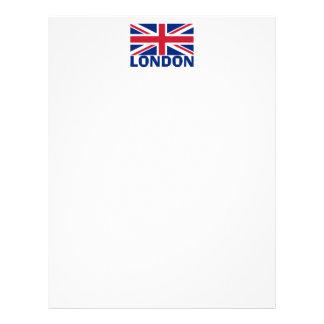 London in Blue Letterhead