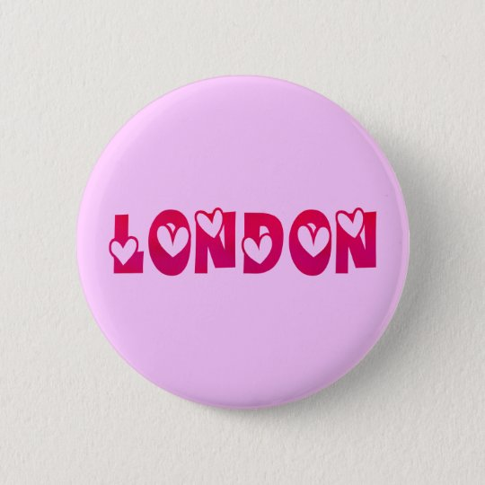 London in Hearts Pinback Button
