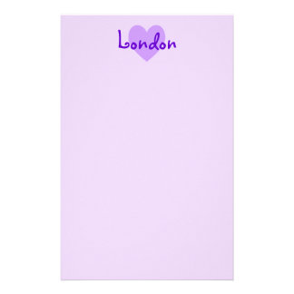 London in Purple Custom Stationery