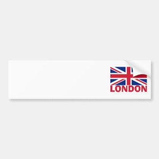 London in Red Car Bumper Sticker