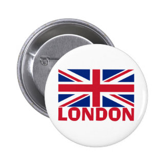 London in Red Pinback Button