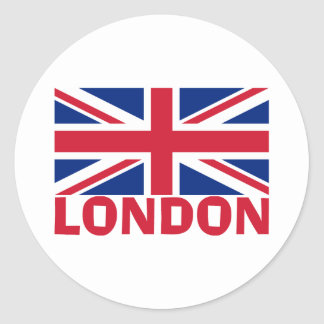 London in Red Classic Round Sticker