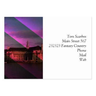 London in Stripes Large Business Cards (Pack Of 100)