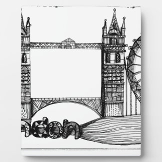 London in tangles plaque