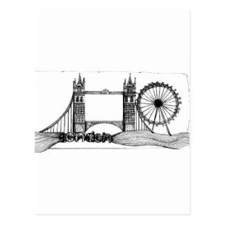 London in tangles postcard