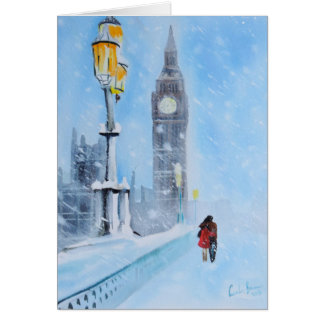 London in the snow card