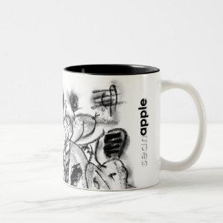 London Intestine Two-Tone Coffee Mug