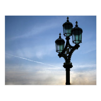 London lamp post postcard