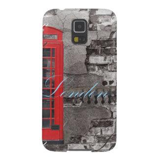 London Landmark art scripts vintage Galaxy S5 Cases