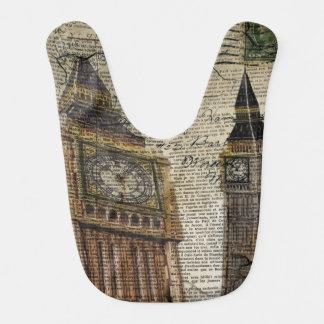 london landmark big ben vintage fashion baby bibs