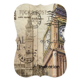london landmark big ben vintage fashion card
