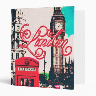 London Landmark Vintage Photo 3 Ring Binder