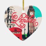 London Landmark Vintage Photo Ceramic Ornament