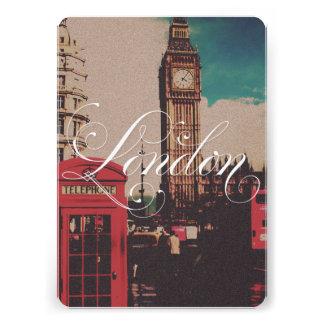 London Landmark Vintage Photo Personalized Invitations