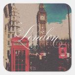 London Landmark Vintage Photo Sticker