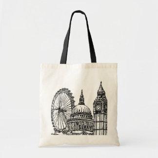 London Landmarks Budget Tote Bag
