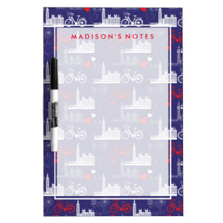 London Landmarks Pattern Dry Erase Board