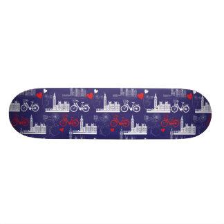 London Landmarks Pattern Skateboard Deck