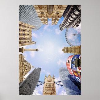 London Landmarks Poster