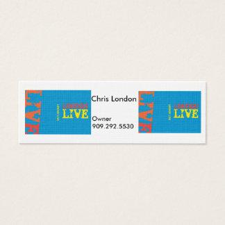 London Live Draft (2) Mini Business Card