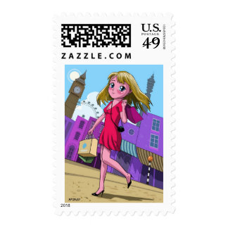 London Manga shopping girl Postage