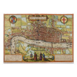 London Map 1572 Posters
