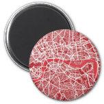 London Map Art Red Refrigerator Magnets