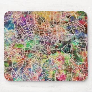 London Map Art Watercolour Mouse Pad