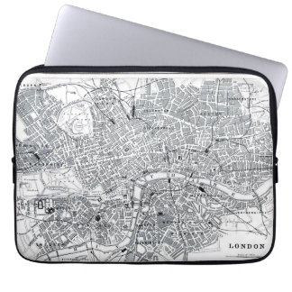 London Map Computer Sleeve