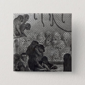London' Monkeys Pinback Button