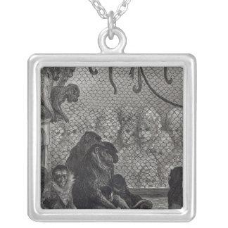 London' Monkeys Silver Plated Necklace