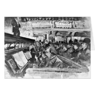 London Music Hall Orchestra Pit 1890 Card