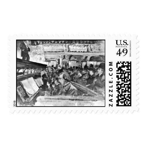 London Music Hall Orchestra Pit 1890 Stamp