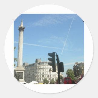 London-Nelson s column Round Sticker
