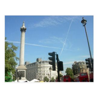 London- Nelson's Column Postcard
