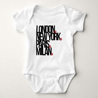 London New York Paris Milan Baby Bodysuit