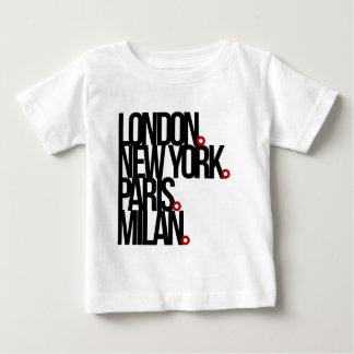 London New York Paris Milan Baby T-Shirt