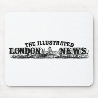 London News Vintage 1900 Engraved Logo Crafty Look Mouse Pad