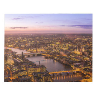 London night skyline notepad