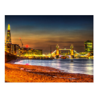 London Night View Postcard