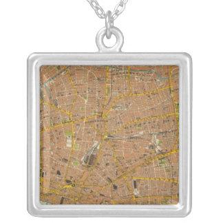 London Northeast Square Pendant Necklace