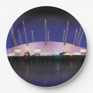 London O2 Arena - Night Paper Plate