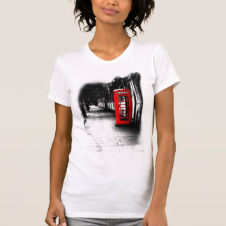 London On The Phone - Red British Phone Booth T-Shirt
